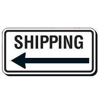 Reflective Parking Lot Signs - Shipping (Left Arrow)