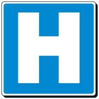 Reflective Traffic Signs - Hospital (Symbol)