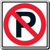 Reflective Traffic Signs - No Parking (Symbol)