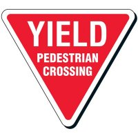 Yield Pedestrian Crossing Reflective Road Sign