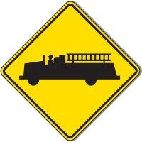 Reflective Warning Signs - Emergency Vehicle (Symbol)