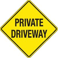 Reflective Warning Signs - Private Driveway