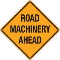 Reflective Warning Signs - Road Machinery Ahead