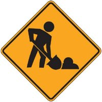 Reflective Warning Signs - Worker (Symbol)