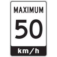 Sign-Maximum Km/H Signs