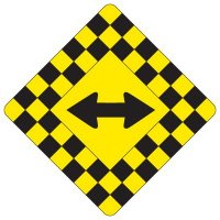 Regulatory Checkerboard Warning Signs – Double Arrow Symbol