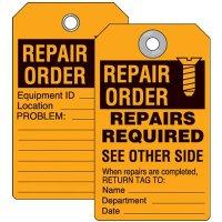 Repair Order Inspection Tag