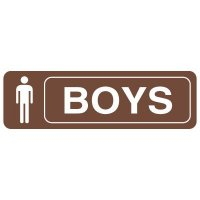 Restroom Signs - Boys