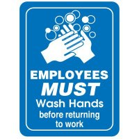 Restroom Signs - Employees Must Wash Hands