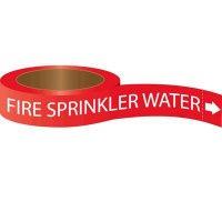 Roll Form Self-Adhesive Pipe Markers - Fire Sprinkler Water