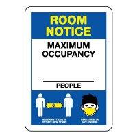 Room Notice Maximum Occupancy Sign