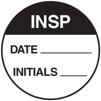 Insp Round Labels On A Roll
