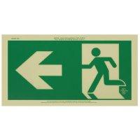 Running Man Signs - Arrow Left