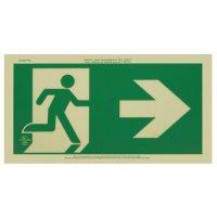Running Man Signs - Arrow Right