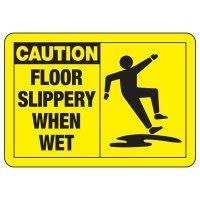 Safety Alert Signs - Caution Floor Slippery When Wet