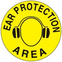 Safety Floor Markers - Ear Protection Area 17-1/2""