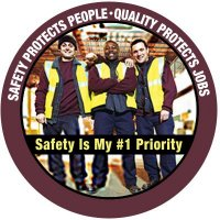 Safety Hard Hat Decals - Safety Protects People