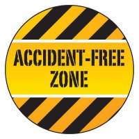 Safety Hard Hat Labels - Accident-Free Zone