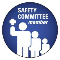 Safety Hard Hat Labels - Safety Committee Member