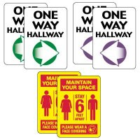 Social Distancing Signage Kit for Hallways #2