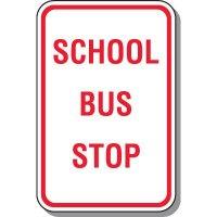 School Parking Signs - School Bus Stop