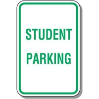 School Parking Signs - Student Parking