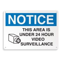 Security Camera Signs - 24 Hour Video