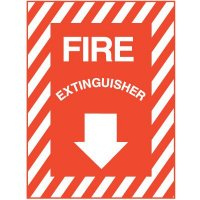 """Self-Adhesive Fire Extinguisher Sign - 9""""W x 12""""H"""