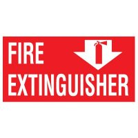 Adhesive Vinyl Fire Exit Signs - Fire Extinguisher