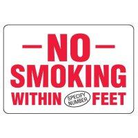 Semi-Custom Eco-Friendly Signs - No Smoking