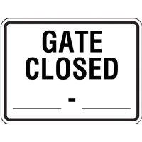 Semi-Custom Reflective Traffic Signs - Gate Closed