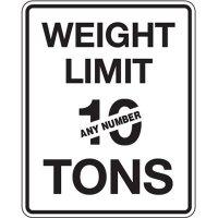 Semi-Custom Traffic Reminder Signs - Weight Limit