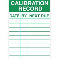 Calibration Record Service Labels