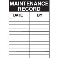 Maintenance Record Service Labels
