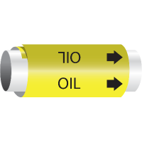 Setmark® Snap-Around Pipe Markers - Oil