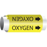 Setmark® Snap-Around Pipe Markers - Oxygen