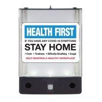 Seton Safety Sign Alerter Kit - If You Have COVID-19 Symptoms Stay Home