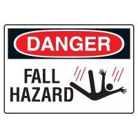 Danger Fall Hazard Sign