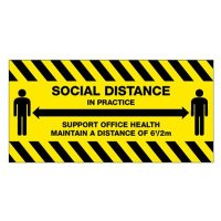 Temporary Social Distance in Practice Floor Sign