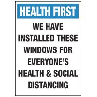 Social Distancing Windows Installed Label