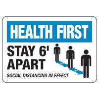 Stay Six Feet Apart Sign