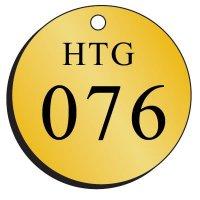 Standard Abbreviated-Wording Brass Valve Tags