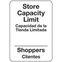 Store Capacity Limit Bilingual Sign