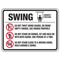Swing Do Not Twist - Playground Sign