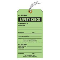 Tear-Off Jumbo Safety Check Tags