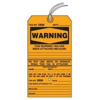 Tear-Off Jumbo Warning Tags