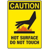 Caution Hot Surface Do Not Touch (with Graphic)