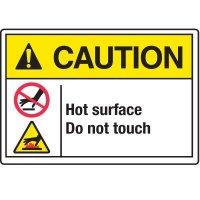 Temperature Warning Signs - Caution Hot
