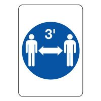 Three Feet Social Distance Graphic Sign