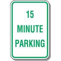 Time Limit Parking Signs - 15 Minute Parking
